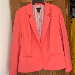 Lane Bryant Pink Plus Blazer NWT